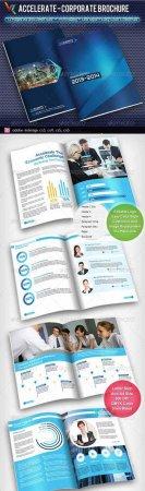 دانلود قالب تجاری کاتالوگ آماده 10 صفحه ای-Accelerate Corporate Brochure