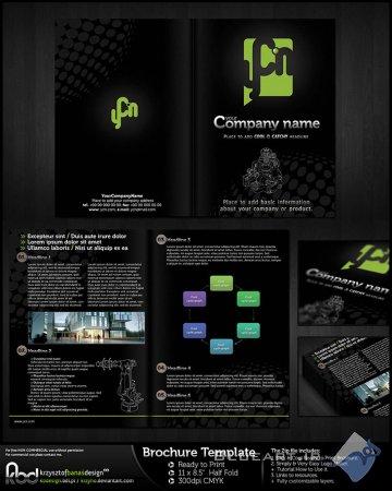 دانلود بروشور  لایه باز - Brochure PSD Template