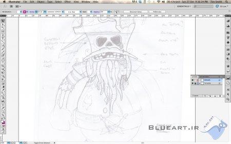 آموزش ایلوستریتور- ایجاد یک شخصیت 3D واقع بینانه و بدون نرم افزار 3D