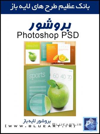دانلود رایگان قالب آماده بروشور و کاتالوگ - Fresh Brochure PSD Template