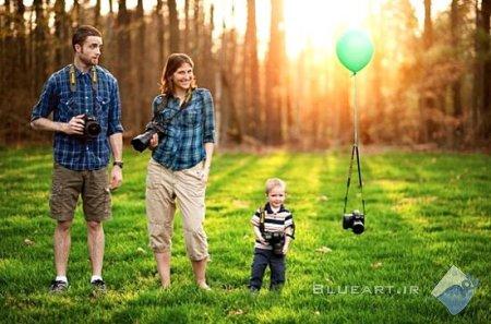 ژست و فیگور برای عکس گرفتن با خانواده