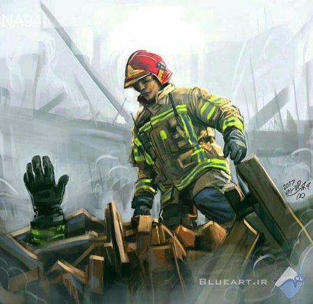 17 طرح گرافیکی با موضوع آتش سوزی پلاسکو