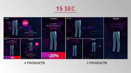 اسکرین شات پروژه افتر افکت Social media product ad pack
