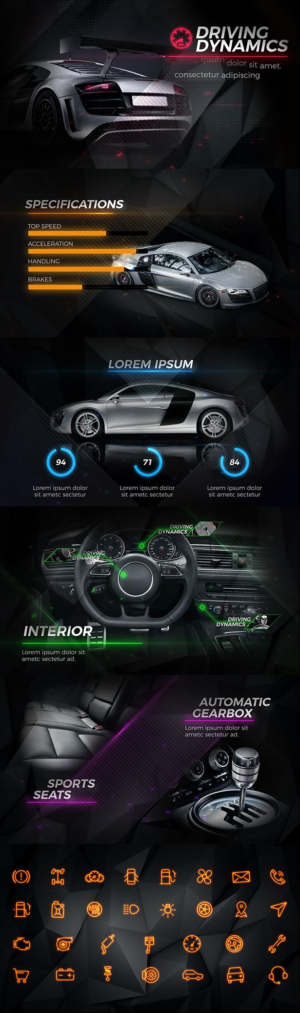 اسکرین شات دانلود پروژه آماده افترافکت New Black Car Promo
