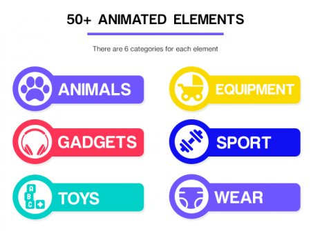 اسکرین شات پروژه افتر افکت Kids elements package