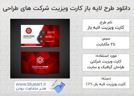 دانلود طرح لایه باز کارت ویزیت شرکت های طراحی