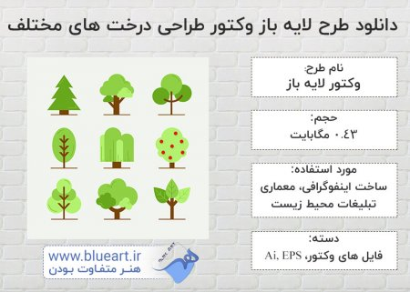 دانلود طرح لایه باز وکتور طراحی درخت های مختلف