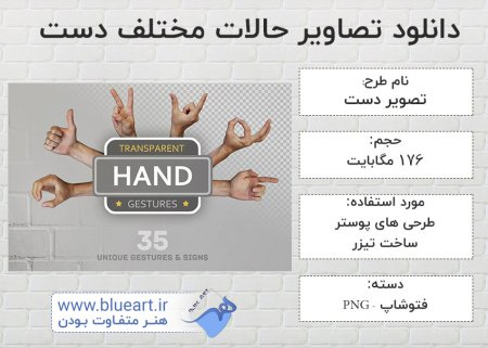 دانلود مجموعه تصویر از حالات مختلف دست انسان Hand Signs - Gestures